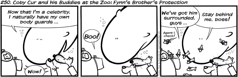 250. Coby Cur and his Buddies at the Zoo: Fynn's Brother's Protection