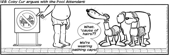 129. Coby Cur argues with the Pool Attendant