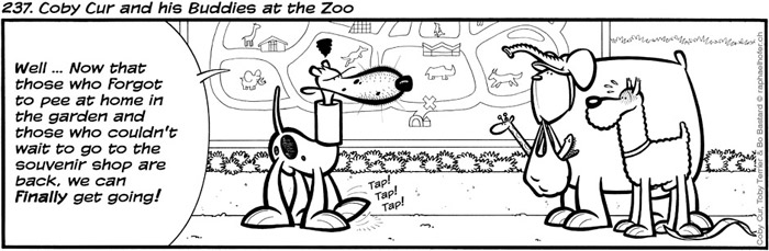 237. Coby Cur and his Buddies at the Zoo