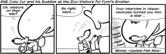 248. Coby Cur and his Buddies at the Zoo: Visitors for Fynn's Brother