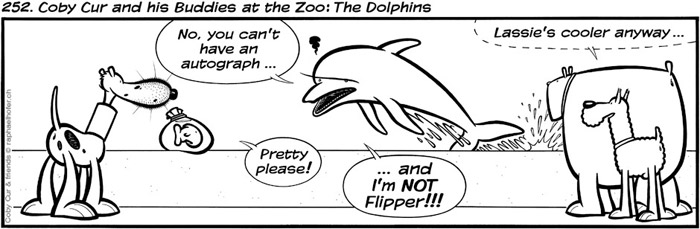 252. Coby Cur and his Buddies at the Zoo: The Dolphins
