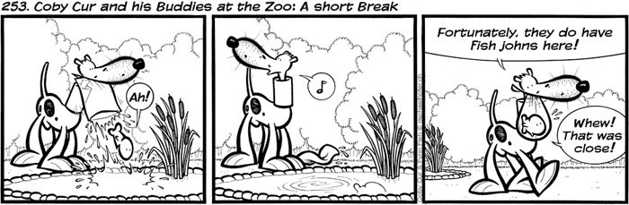 253. Coby Cur and his Buddies at the Zoo: A short Break