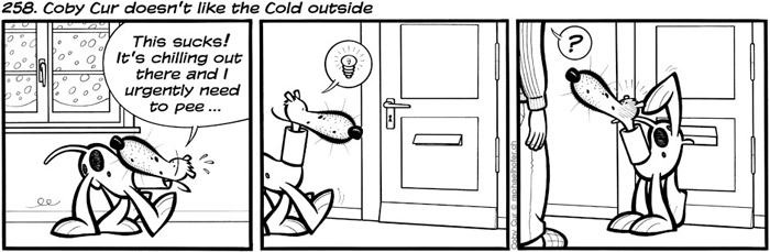 258. Coby Cur doesn't like the Cold outside