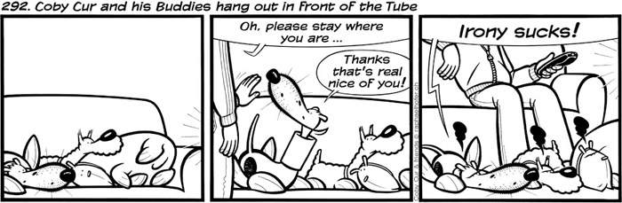 292. Coby Cur and his Buddies hang out in front of the Tube